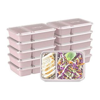 Bentgo Prep 2-Compartment Containers with Lids, 10 Count