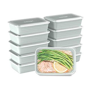 Bentgo Prep 1-Compartment Containers with Lids, 10 Count