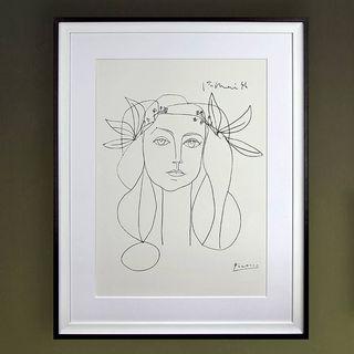 Pablo Picasso 'Head, 1946' Framed Print, John Lewis, £199