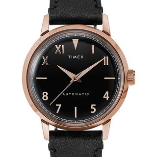 Timex Marlin Automatic California Dial 40mm Leather Strap Watch