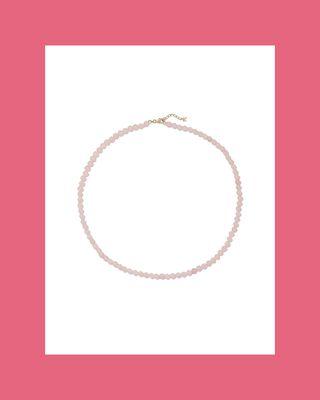 14K Gold Quartz Necklace