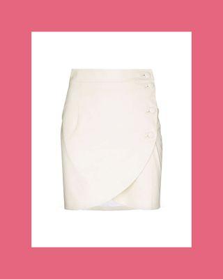 Button-Up Tulip Mini Skirt