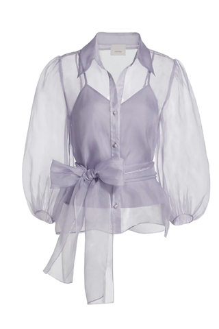 Marion Belted Silk Blouse