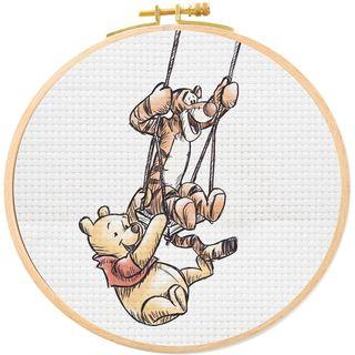 Disney Winnie the Pooh and Tigger Cross Stitch Hoop Kit