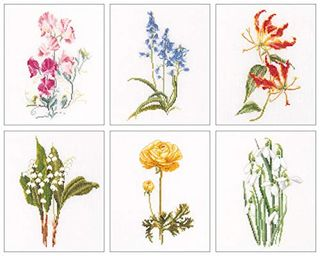Floral Cross Stitch Kit - Embroidery Kit