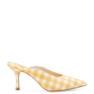 Lady Pump In Sun Plaid Patent Leather
