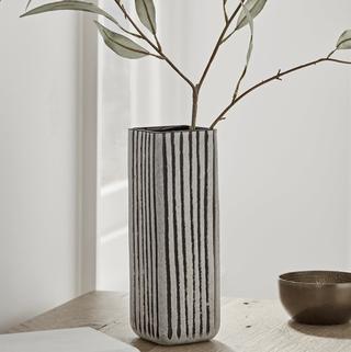 Monochrome Striped Column Vase, Cox & Cox, £50