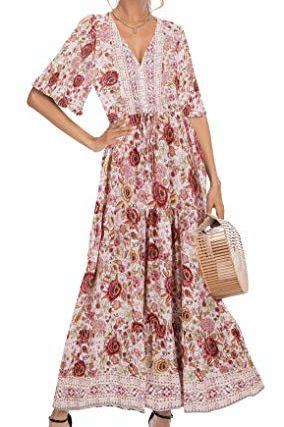 Cotton Short Sleeve Flowy Dress