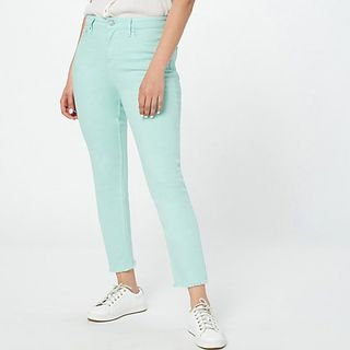 Cameron Candace Bure Petite Colored Straight Leg Ankle Jeans