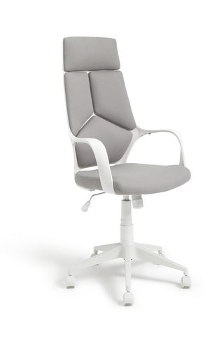 Habitat Alma High Back Ergonomic Office Chair - Grey