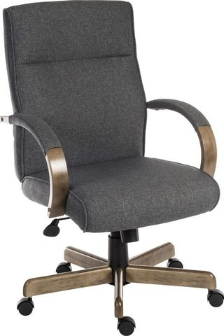 Grayson 6969GREY Fabric Tilting Executive Chair - Grey & Driftwood