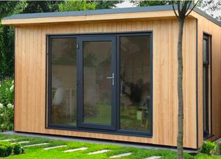 Forest Garden Xtend 4 X 3.42m Insulated Garden Office With 1/4 Window