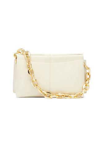 Carly Mini Chunky-Chain Leather Shoulder Bag