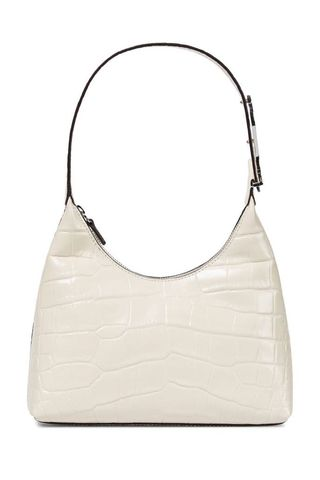 Scotty croc-effect leather shoudler bag