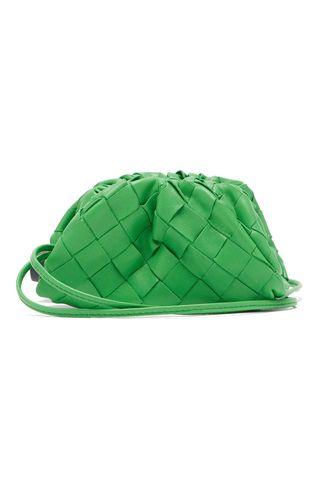 The Pouch mini Intrecciato-leather purse clutch