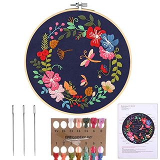 Embroidery Starter Kit with Garland Pattern