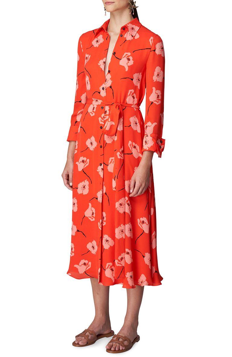 Meghan Markle Stuns in Poppy Print Carolina Herrera Dress at Vax Live