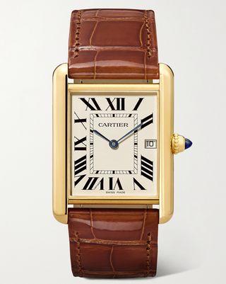 Tank Louis 18-karat gold watch