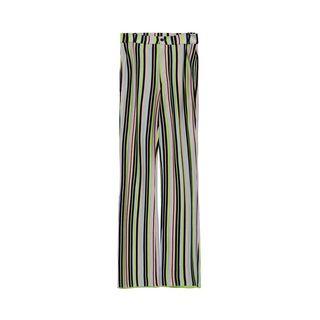 Striped Silk Trousers