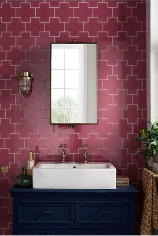 Cliq™ Hot Pink Tile, Topps Tiles, £75.60 (per SQM)