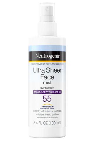 Ultra Sheer Face Mist Sunscreen SPF 55