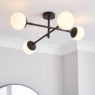 Tela Bathroom Black Ceiling Fitting, Dunelm, £75
