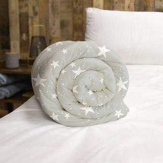 Rest Easy Sleep Better Star Weighted Blanket, Grey
