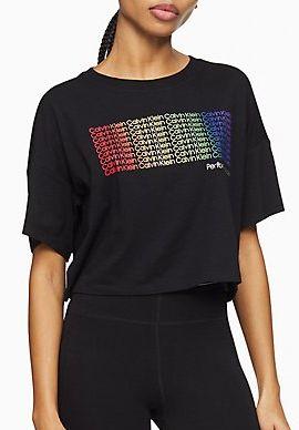 Performance Pride Logo Boxy Cropped T-Shirt