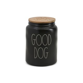 Good Dog Wooden Lid Canister