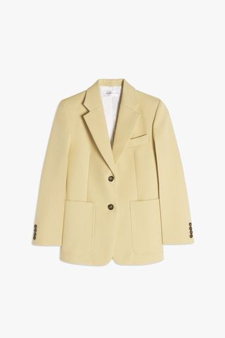 Patch Pocket Fitted Blazer in Banana