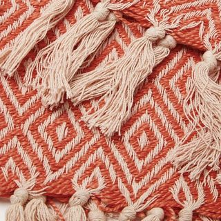 Dos Recycled Cotton Throw - Coral Pink