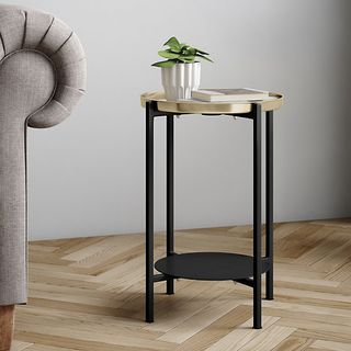 Brass Top Side Table