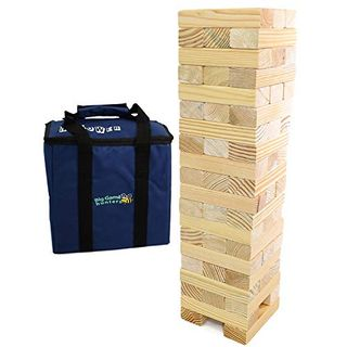 Big Game Hunters Jumbo Hi-Tower In A Bag, Built 0.6 Meter Up To 1.5 Meter High In-Game, Outdoor Tumble Tower Large Garden Games