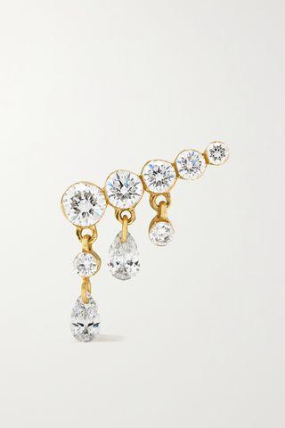 11mm Invisible Crescendo 18-karat gold diamond earring