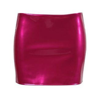 Hot Pink Low Slung Mini Skirt