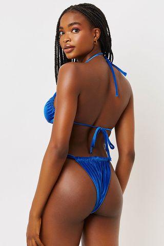 Velvet Cheeky Bikini Bottom
