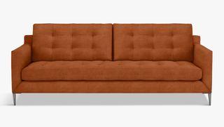 John Lewis & Partners Draper 3 Seater Velvet Sofa