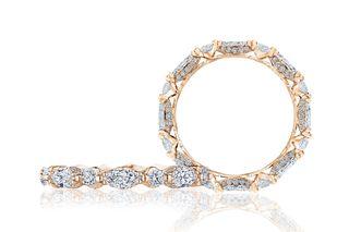 Diamond and 18K Rose Gold Classic Crescent RoyalT Ring