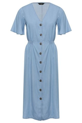 Buttoned midi dress in Tencel, M & Co, £ 39.99