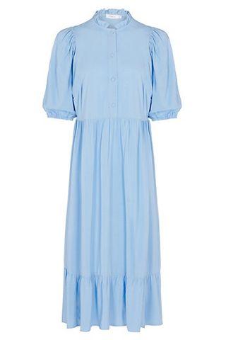 Ruffled high neck midi smock dress, M&S, £ 49