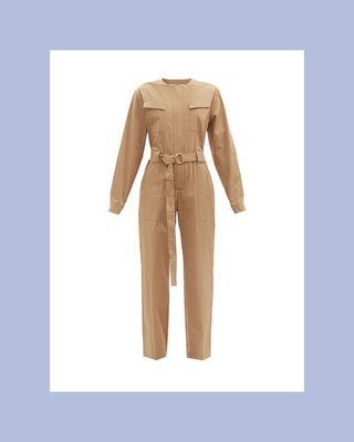 Belted Organic Cotton-Blend Jumpsuit