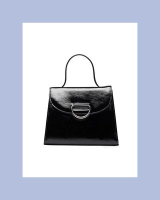 Lady Patent Leather Top Handle Bag