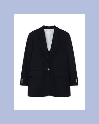 Structured Flowy Suit Jacket