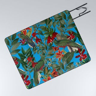 Orchid Jungle Picnic Blanket