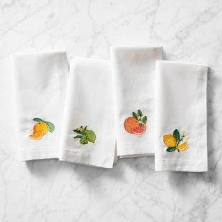 Citrus Embroidered Napkins