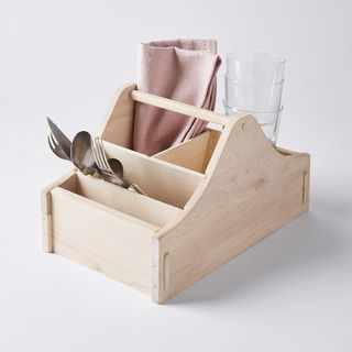 Handcrafted Wood Utensil Caddy