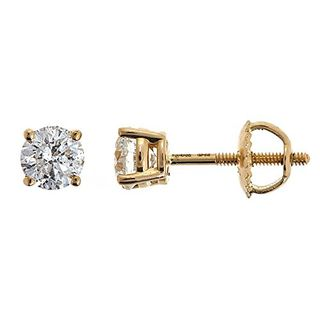 14K Yellow Gold Diamond Stud Earrings (0.25 carats)
