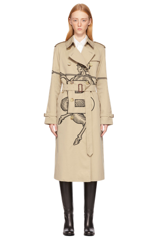 Mythycal Alphabet Embroidered Exploded Trench Coat