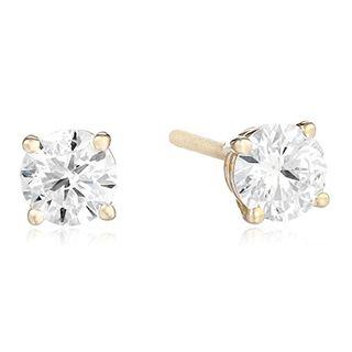 14k Yellow Gold Round-Cut Diamond Stud Earrings (0.75 carats)