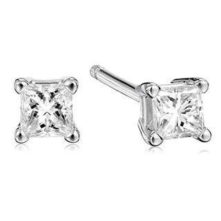 Platinum Princess Diamond Stud Earrings (0.25 carats)